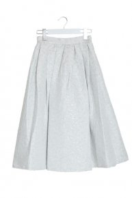 HAKU TUCK SKIRT/white