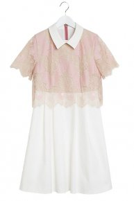 COLLAR LACE DRESS III/pink