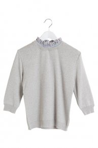 SOPHIE HALLETTE FRILL COLLAR KNIT/gray