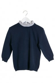 SOPHIE HALLETTE FRILL COLLAR KNIT/navy
