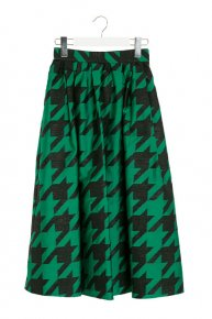 HOUNDSTOOTH TUCK SKIRT/green<img class='new_mark_img2' src='//img.shop-pro.jp/img/new/icons1.gif' style='border:none;display:inline;margin:0px;padding:0px;width:auto;' />