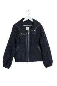 FLOWER LACE BLOUSON/navy<img class='new_mark_img2' src='https://img.shop-pro.jp/img/new/icons1.gif' style='border:none;display:inline;margin:0px;padding:0px;width:auto;' />