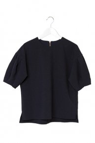BALLOON SLEEVE BLOUSE/navy<img class='new_mark_img2' src='https://img.shop-pro.jp/img/new/icons1.gif' style='border:none;display:inline;margin:0px;padding:0px;width:auto;' />