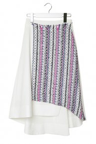 TOURNIER SKIRT/white<img class='new_mark_img2' src='https://img.shop-pro.jp/img/new/icons16.gif' style='border:none;display:inline;margin:0px;padding:0px;width:auto;' />