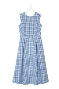 LACEUP DRESS/gingham blue<img class='new_mark_img2' src='https://img.shop-pro.jp/img/new/icons53.gif' style='border:none;display:inline;margin:0px;padding:0px;width:auto;' />