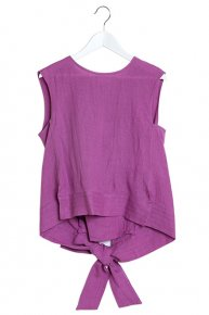LINEN RIBBON TOPS/pink  </a> <span class=