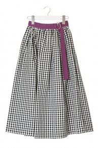 6/15 21:00 予約販売:GINGHAM CHECK SKIRT/black×purple<img class='new_mark_img2' src='https://img.shop-pro.jp/img/new/icons1.gif' style='border:none;display:inline;margin:0px;padding:0px;width:auto;' />