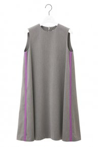 LINE DRESS/charcoal gray×purple<img class='new_mark_img2' src='https://img.shop-pro.jp/img/new/icons1.gif' style='border:none;display:inline;margin:0px;padding:0px;width:auto;' />