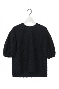 new:DOTS BALLOON SLEEVE BLOUSE/navy<img class='new_mark_img2' src='https://img.shop-pro.jp/img/new/icons1.gif' style='border:none;display:inline;margin:0px;padding:0px;width:auto;' />