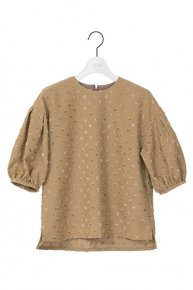 new:DOTS BALLOON SLEEVE BLOUSE/camel<img class='new_mark_img2' src='https://img.shop-pro.jp/img/new/icons1.gif' style='border:none;display:inline;margin:0px;padding:0px;width:auto;' />