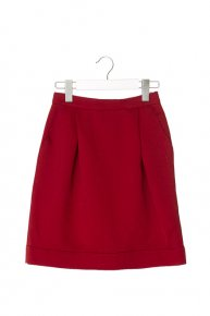 COCOON MINI SKIRT/red  </a> <span class=