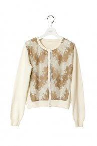 LACE CARDIGAN/camel<img class='new_mark_img2' src='https://img.shop-pro.jp/img/new/icons1.gif' style='border:none;display:inline;margin:0px;padding:0px;width:auto;' />