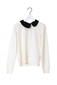 DOT COLLAR KNIT�/white<img class='new_mark_img2' src='https://img.shop-pro.jp/img/new/icons1.gif' style='border:none;display:inline;margin:0px;padding:0px;width:auto;' />