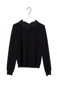 DOT COLLAR KNIT�/black<img class='new_mark_img2' src='https://img.shop-pro.jp/img/new/icons1.gif' style='border:none;display:inline;margin:0px;padding:0px;width:auto;' />