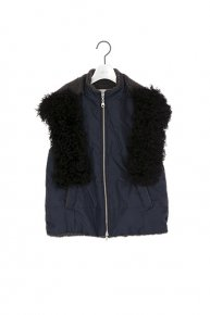 2WAY FUR VEST/navy  </a> <span class=