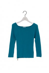 new:  RIB KNIT/ turquoise blue<img class='new_mark_img2' src='https://img.shop-pro.jp/img/new/icons1.gif' style='border:none;display:inline;margin:0px;padding:0px;width:auto;' />  </a> <span class=