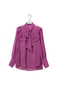 Bowtie blouse /pink<img class='new_mark_img2' src='https://img.shop-pro.jp/img/new/icons1.gif' style='border:none;display:inline;margin:0px;padding:0px;width:auto;' />  </a> <span class=