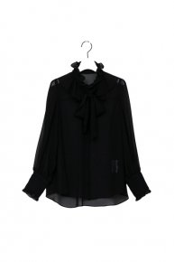 re stock: frill frill bowtie blouse/ black<img class='new_mark_img2' src='https://img.shop-pro.jp/img/new/icons53.gif' style='border:none;display:inline;margin:0px;padding:0px;width:auto;' />  </a> <span class=