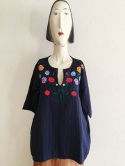 GAIJIN MADE/FLOWER EMBROIDERY TUNIC