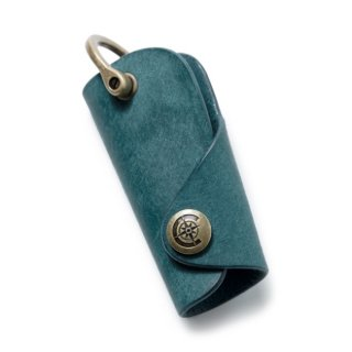 Button Hook Key Case〈Blue〉
