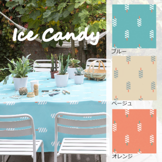 ロラ テーブルクロス 切り売り ICE(アイスキャンディの柄)