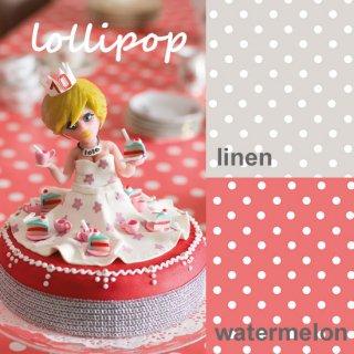 ロラ テーブルクロス 切り売り LOLLIPOP WATERMELON / LINEN