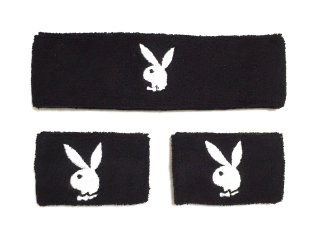 PLAYBOY Black Hairband & Wristband 【Black】<img class='new_mark_img2' src='https://img.shop-pro.jp/img/new/icons50.gif' style='border:none;display:inline;margin:0px;padding:0px;width:auto;' />