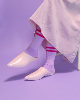 Thrift Store Underwear Pale Line Socks 【Mint, Lilac】
