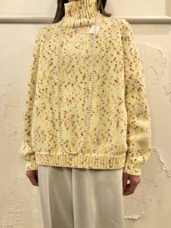 Vintage Nep Yarn Highneck Sweater
