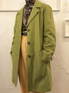 Vintage Corduroy Single Trench Coat