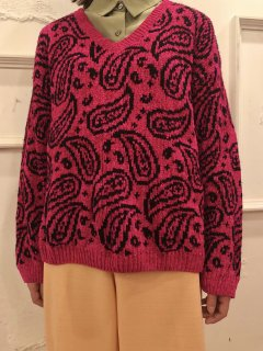 Vintage Paisley Mole Knit Sweater
