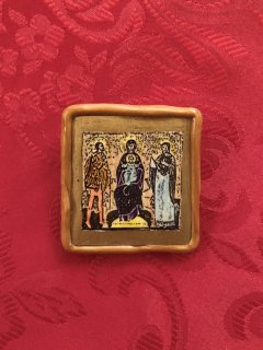 Vintage Religious Art Brooch<img class='new_mark_img2' src='https://img.shop-pro.jp/img/new/icons50.gif' style='border:none;display:inline;margin:0px;padding:0px;width:auto;' />
