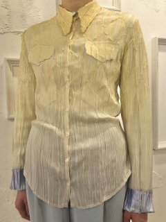 Vintage Yellow/Silver Gradation Wrinkle Shirt S<img class='new_mark_img2' src='https://img.shop-pro.jp/img/new/icons50.gif' style='border:none;display:inline;margin:0px;padding:0px;width:auto;' />