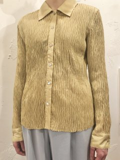Vintage Pale Gold Wrinkle Silk Shirt M<img class='new_mark_img2' src='https://img.shop-pro.jp/img/new/icons50.gif' style='border:none;display:inline;margin:0px;padding:0px;width:auto;' />