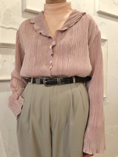 Vintage Mauve Pink Pleated Shirt XL<img class='new_mark_img2' src='//img.shop-pro.jp/img/new/icons50.gif' style='border:none;display:inline;margin:0px;padding:0px;width:auto;' />