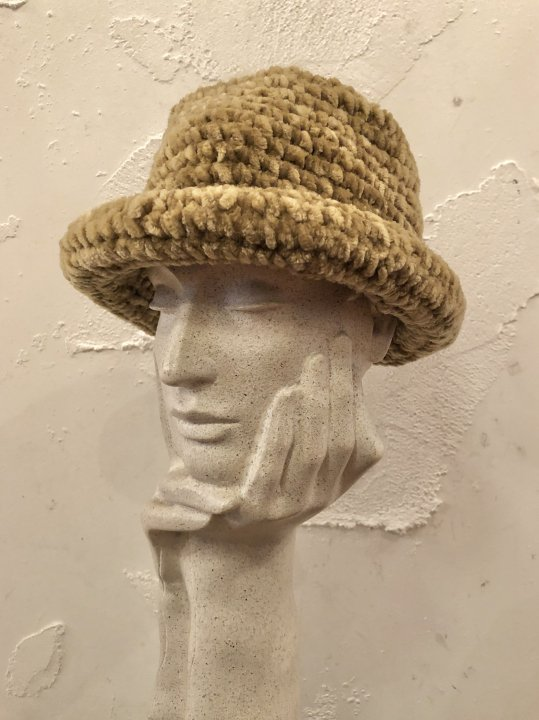 Vintage Mole Knit Hat S-M<img class='new_mark_img2' src='https://img.shop-pro.jp/img/new/icons50.gif' style='border:none;display:inline;margin:0px;padding:0px;width:auto;' />