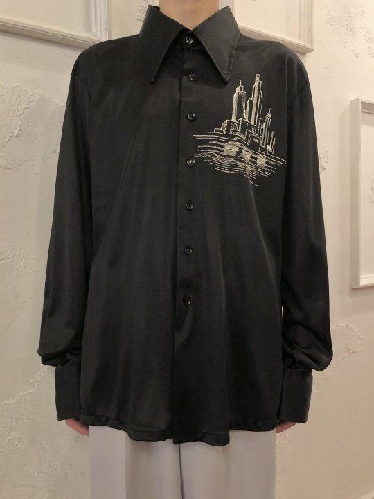 Vintage NEW YORK Motif Jersey Shirt L