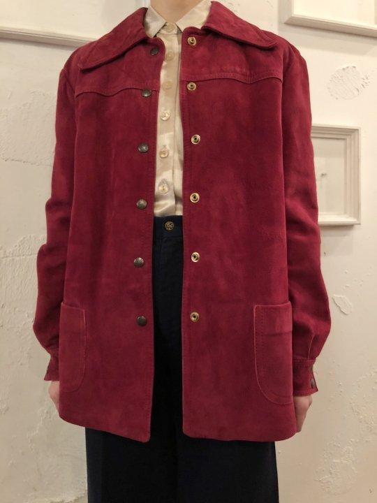 Vintage Wine Red Nubuck Coat M