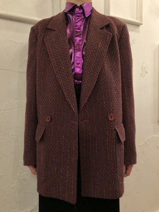 Vintage Christian Dior Tweed Jacket M-L<img class='new_mark_img2' src='https://img.shop-pro.jp/img/new/icons50.gif' style='border:none;display:inline;margin:0px;padding:0px;width:auto;' />