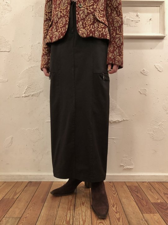 Vintage Nylon Cargo Long Skirt M<img class='new_mark_img2' src='https://img.shop-pro.jp/img/new/icons50.gif' style='border:none;display:inline;margin:0px;padding:0px;width:auto;' />