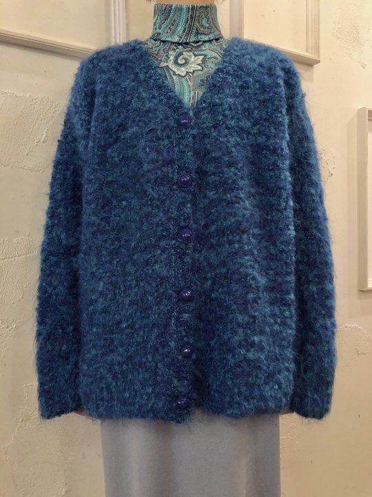 Vintage Mohair Cardigan Blue XL<img class='new_mark_img2' src='https://img.shop-pro.jp/img/new/icons50.gif' style='border:none;display:inline;margin:0px;padding:0px;width:auto;' />