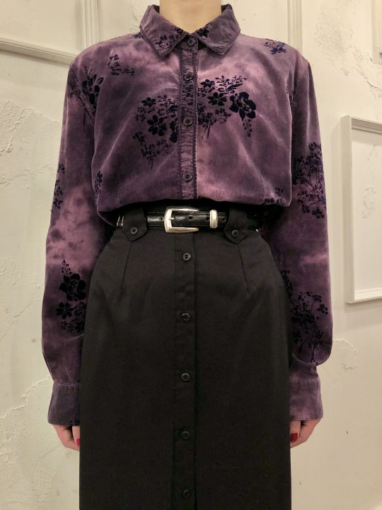 Vintage Bleached Corduroy Shirt Purple S<img class='new_mark_img2' src='https://img.shop-pro.jp/img/new/icons50.gif' style='border:none;display:inline;margin:0px;padding:0px;width:auto;' />