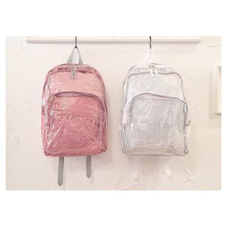 EASTSPORT Clear Backpack 【Clear Pink/Gray, Clear/White】