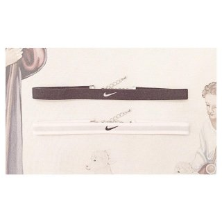 NIKE Swoosh Logo Choker 【Black,White】<img class='new_mark_img2' src='//img.shop-pro.jp/img/new/icons50.gif' style='border:none;display:inline;margin:0px;padding:0px;width:auto;' />