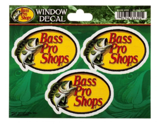 Bass Pro Shops Die-Cut Vinyl Mini Window Decal 3-Pack(ビニールミニウィンドウデカール3枚組)