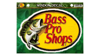 Bass Pro Shops Die-Cut Vinyl Bass Pro Shops Medium Window Decal(ビニールミディアムウィンドウデカール)