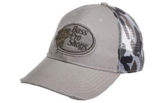 Bass Pro Shops Frayed Patch Camo Mesh Back Cap