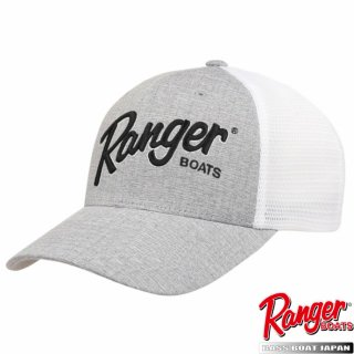 【Ranger Boats レンジャーウェア】  Grey/White Cap with Ranger logo