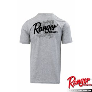 【Ranger Boats レンジャーウェア】Graphic S/S Tee - Heather Grey -Bass