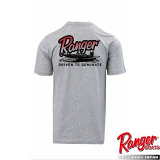 【Ranger Boats レンジャーウェア】Graphic S/S Tee - Heather Grey - Red Ranger Boat